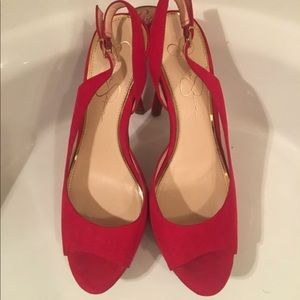 Red sandals size 9 used